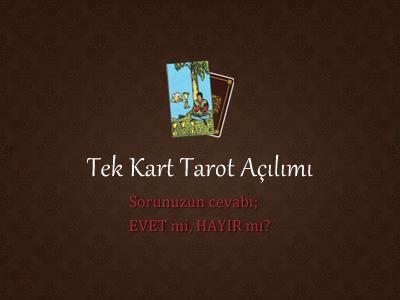 Tek Kart Tarot Fali